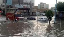 باران شدیدی که بندر گناوه را «ونیز» کرد/تصاویر