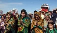 مراسم ازدواج ۸ زوج ترکمن/تصاویر