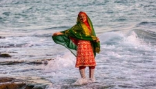 خلیج فارس مواج پس از بارشهای زمستانه/تصاویر
